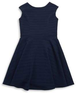Un Deux Trois Girl's V-Back Cotton Dress