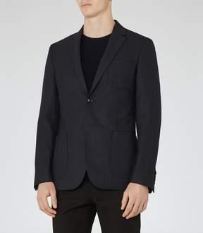 Reiss Basie B Wool And Silk Blazer