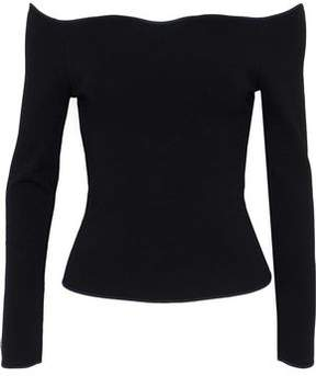 Cédric Charlier Off-The-Shoulder Stretch-Knit Top