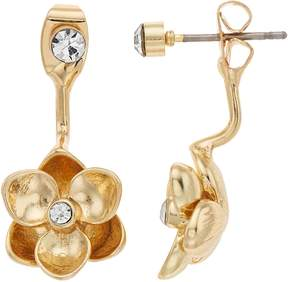 Lauren Conrad Flower Nickel Free Ear Jacket Earrings