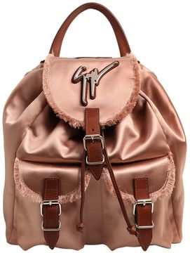 Fringed Silk Satin Backpack