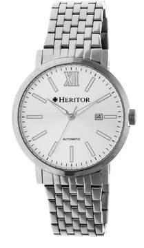 Heritor Bristol Silver Dial Automatic Men's Watch