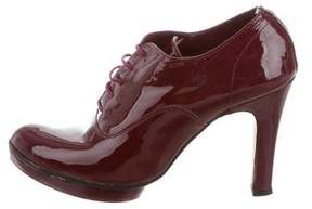 Repetto Patent Leather Round-Toe Booties