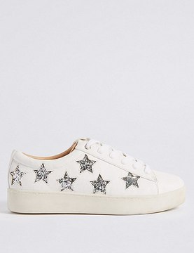Marks and Spencer Lace-up Star Trainers