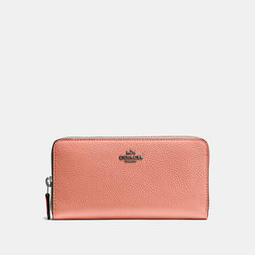 COACH Coach Accordion Zip Wallet - DARK GUNMETAL/MELON - STYLE