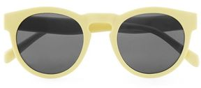 Topman Matte Yellow Round Sunglasses