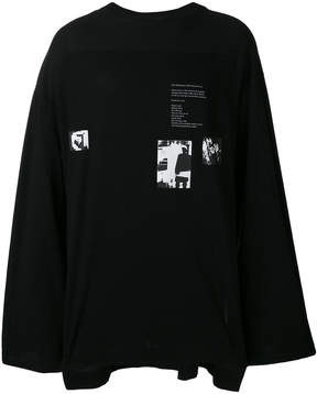 Julius printed longsleeved T-shirt