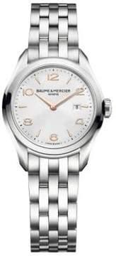 Baume & Mercier Clifton 10175 Stainless Steel Bracelet Watch