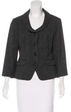 DKNY Long Sleeve Button-Up Blazer
