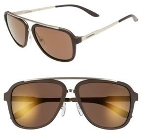 Carrera Men's Eyewear 57Mm Navigator Sunglasses - Brown/ Brown Gold Mirror