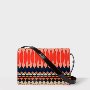 Paul Smith No.9 - Women's Multi-Coloured Patent Leather Double Flap Handbag
