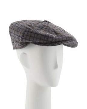 Neiman Marcus Wool Small-Check Jaxon Hat