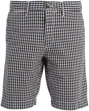 Incotex Slim-leg checked cotton shorts