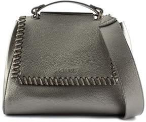 Orciani Sveva Small Carbon Leather Handbag.