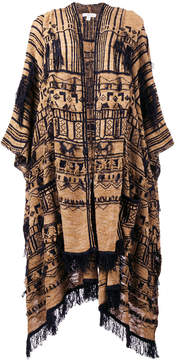 Etro embroidered scarf cape