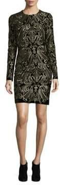 Alexia Admor Velvet Long Sleeve Sheath Dress