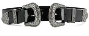 B-Low the Belt Women's Black Leather Belt.