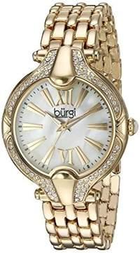 Burgi Mother Of Pearl Dial Ladies Gold Tone Dial