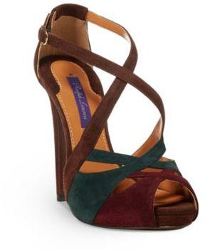 Ralph Lauren Jenalee Suede Sandal Multi 36.5