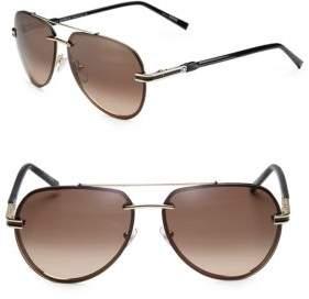 Montblanc 60MM Rimless Aviator Sunglasses