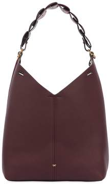 Anya Hindmarch Small Heart Link Suede & Leather Bag