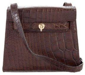 Jil Sander Alligator Belted Shoulder Bag