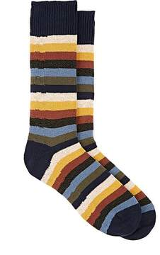 Corgi Men's Striped Cotton Mid-Calf Socks