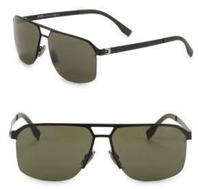 HUGO 61MM Aviator Sunglasses