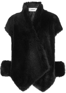 Chalayan Cutout Faux Fur Coat - Black
