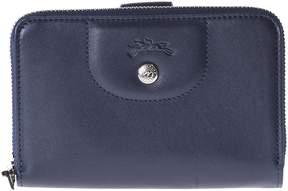 Longchamp Compact Zip Around Wallet - 556BLUNAVY - STYLE