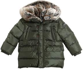 Il Gufo Nylon & Faux Fur Hooded Down Jacket