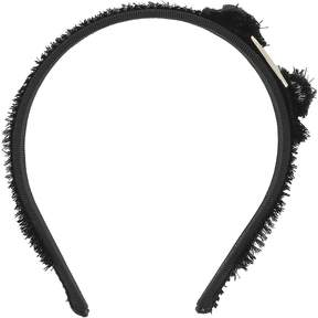 Salvatore Ferragamo Black Fabric Headband