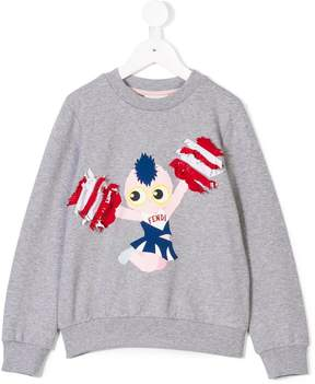 Fendi Pirochan cheer print sweatshirt