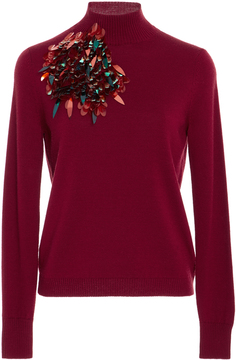 DELPOZO Embellished Merino Wool Sweater