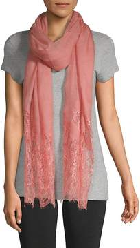 Valentino Women's Floral Lace-Trimmed Stole