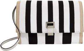 Proenza Schouler Knit Striped Lunch Bag Clutch
