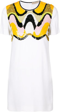 Emilio Pucci sequinned panel T-shirt dress