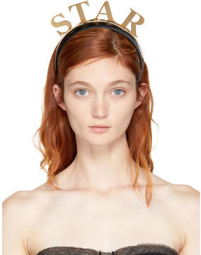 Dolce & Gabbana Black Star Headband