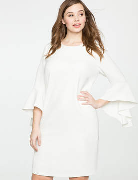 ELOQUII Flounce Sleeve Shift Dress