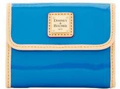 Dooney & Bourke Patent Small Flap Wallet - BLUE - STYLE