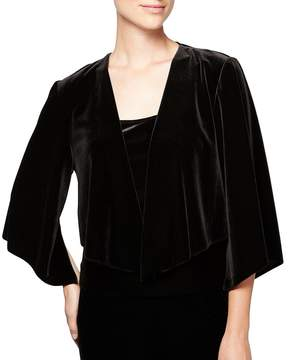 Alex Evenings Velvet Open-Front Shrug