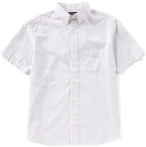 Roundtree & Yorke Big & Tall Untucked Short-Sleeve Checked Sportshirt