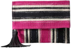 Rebecca Minkoff Serra Fold-Over Clutch Clutch Handbags - PINK MULTI - STYLE