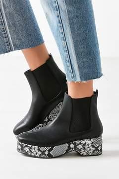 Urban Outfitters Eva Snakeskin Platform Chelsea Boot