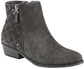 White Mountain As Is Water Resistant Suede Ankle Boots