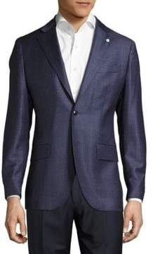 Lubiam Notch-Lapel Check Wool Jacket
