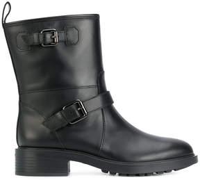 Hogan pin buckled boots