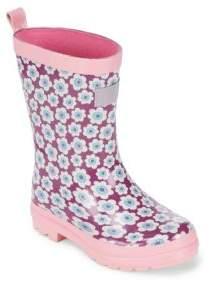 Hatley Baby's, Toddler's & Girl's Butterflies & Buds Vulcanized Rubber Rain Boots