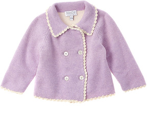 Baby CZ Girls' Purple Cashmere Jacket