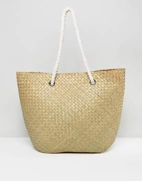 South Beach Straw Beach Bag